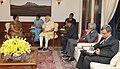 The former President of Sri Lanka, Mrs. Chandrika Kumaratunga calling on the Prime Minister, Shri Narendra Modi, in New Delhi on September 03, 2015 (1).jpg