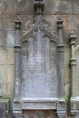 Sir Archibald Alison, 1st Baronet - The grave of Sir Archibald Alison, 1st Baronet, Dean Cemetery.