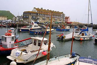 West Bay, Dorset - Image: The harbour at West Bay geograph.org.uk 1257239