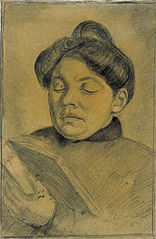 Portrait of Agnita Feis Reading the Bible