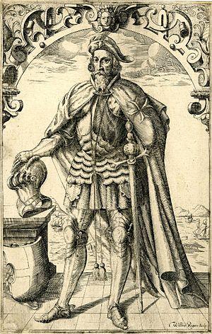Thomas Docwra - Engraved portrait of Thomas Docwra by William Rogers