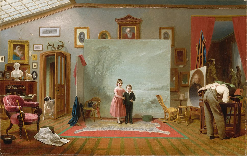 Thomas Le Clear - Interior with Portraits - Google Art Project