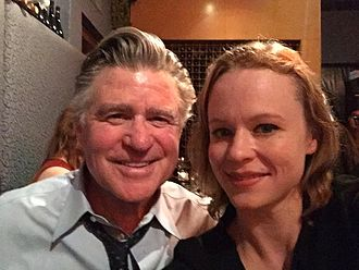 Treat Williams - Thora Birch and Williams on the set of the upcoming film The Etruscan Smile