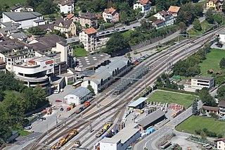 Thusis (Rhaetian Railway station) Swiss train station