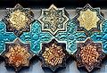Tiles. Field cross and star pattern. From Kashan, Iran. Dated 697 AH (1297-1298 CE). Quartz ceramic, underglaze and luster painting. Islamic Art Museum (Museum für Islamische Kunst), Berlin, Germany.jpg