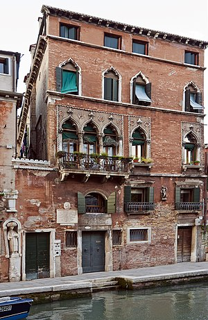 "Tintoretto - House of Tintoretto ""Fondamenta dei mori"" – Cannaregio – Venice"