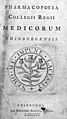 "Title page ""Pharmacopoeia Collegii Regii..."", 1756 Wellcome M0011897EB.jpg"