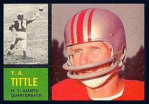 Y. A. Tittle - Tittle on a 1962 trading card