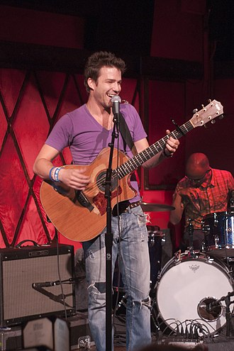 Todd Carey - Carey playing at the Rockwood Music Hall in NYC in July 2011
