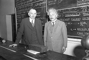 California Institute of Technology - Richard C. Tolman and Albert Einstein at Caltech, 1932