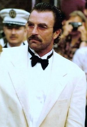 Tom Selleck - Selleck at the 1992 Cannes Film Festival.