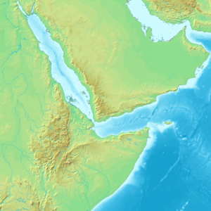 AL 333 - Topographic map showing the Afar Triangle