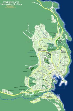 Map Torshavn Faroe Islands