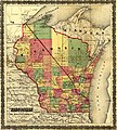 Township map of Wisconsin showing The Milwaukee & Horicon Rail Road and its connections. LOC 98688714.jpg