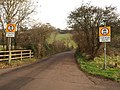 Traffic restriction signs, Ludwell Lane - geograph.org.uk - 1120451.jpg