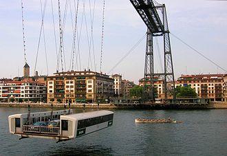 Vizcaya Bridge - Image: Trainera Transbordador Vizcaya