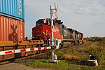 Trainspotting CN -8950 EMD SD70M-2 leading CN -2588 GE C44-9W (Dash 9-44CW) (8098452573).jpg