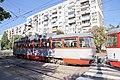 Tram in Sofia in front of Tram depot Banishora 021.jpg