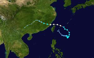 Tropical Storm Trami (2013) - Image: Trami 2013 track