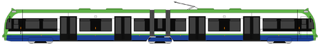 diagram of a Tramlink Flexity Swift tram