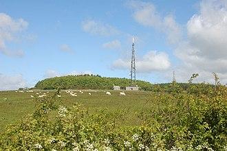 Long Mountain (Powys) - Beacon Ring on the summit of Long Mountain.