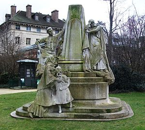 Human Rights League (France) - Monument to Ludovic Trarieux in Place Denfert-Rochereau, commemorating the foundation of the Ligue des droits de l'homme (designed by Jean Boucher).