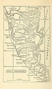 Image result for map of travancore 1800