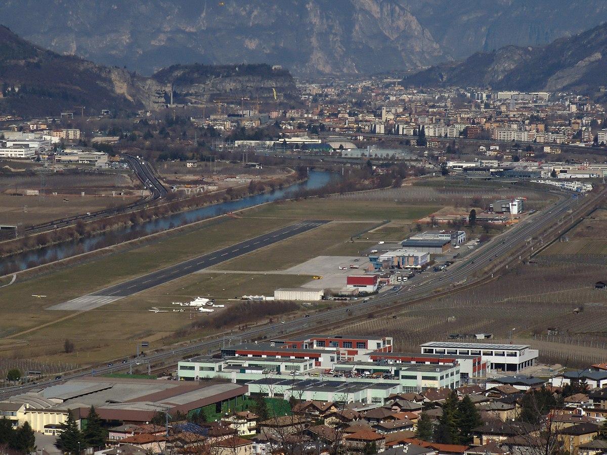Aeroporto di trento mattarello wikipedia for Trento e bolzano