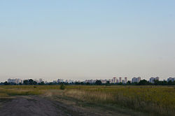 Desniansky District as seen from the northern outskirts of Kyiv