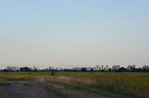 Desnianskyi District, Kiev - Desniansky District as seen from the northern outskirts of Kyiv