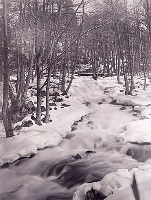 Trollhättan Falls - Trollhättan Falls area between Ekeblad's sluice and Polhem's sluice in 1888.