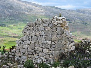 Tunan Marca District - Ruins at the archaeological site of Tunanmarka