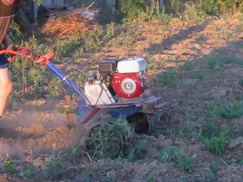 File:Two-wheel tractor and harvesting potatoes.ogv