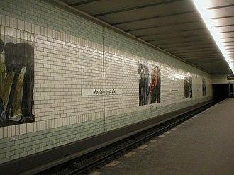 Magdalenenstraße (Berlin U-Bahn) - U-Bahn station Magdalenenstraße before its 2003 renovation