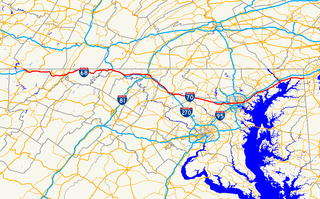 U.S. Route 40 in Maryland section of U.S. Highway in Maryland, United States