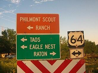 U.S. Route 64 - Image: U.S. Highway 64 in Cimarron, NM Picture 2024