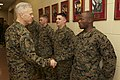 U.S. Marine Corps Gen. James F. Amos, left, the commandant of the Marine Corps, visits Marines at The Basic School at Marine Corps Base Quantico, Va., March 4, 2013 130304-M-LU710-016.jpg