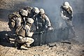 U.S. Marines with Combat Logistics Regiment 2, 2nd Marine Logistics Group, undergo realistic combat training for first responders during Enhanced Mojave Viper (EMV), on Marine Corps Air Ground Combat Center 120906-M-KS710-022.jpg