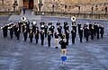U.S. Navy Lt. David Latour, the band director and conductor during event, leads the U.S. Naval Forces Europe Band as it rehearses one of the songs it will play during the Edinburgh tattoo to be held outside 120730-N-VT117-712.jpg