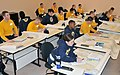 U.S. Navy petty officers and chief petty officers work on navigation charts during the 2012 Seaman-to-Admiral and Naval Science Institute class at Officer Training Command at Naval Station Newport, R.I., Feb 120224-N-IK959-969.jpg