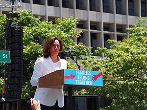 U.S. Sen. Kamala Harris speaks at L.A.'s Families Belong Together March.jpg