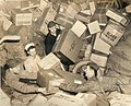 U.S. Troops Surrounded by Holiday Mail During WWII.jpg