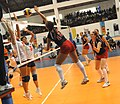 U.S. Womens Volleyball team CISM 2007 spike.jpg