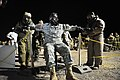 U.S. and Israeli soldiers conduct personnel decontamination after a simulated chemical attack as part of Austere Challenge 2012 in Beit Ezra, Israel 121023-F-QW942-314.jpg