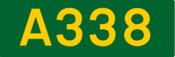 A338 road shield