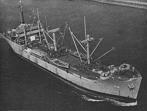 USS Adria (AF-30) - Image: USS Adria (AF 30) underway in 1949