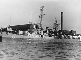 USS Buckley (DE-51) - Buckley after her conversion, in late 1945.