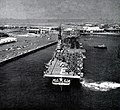 USS Essex (CVA-9) leaving San Diego on 16 June 1952.jpg