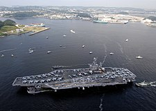 USS George Washington (CVN 73) arrives at Fleet Activities Yokosuka, Japan