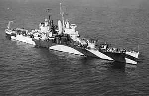 USS Houston (CL-81) underway off Norfolk on 12 January 1944 (80-G-214200).jpg
